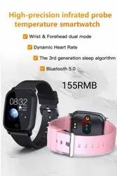 Casual Watches Digital Mangal Smart Watch Wrist And Forehead Temperature Bracelet, For Personal Use, Model Name/Number: MS-001