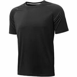 Half Sleeves Black Dri Fit Jersey