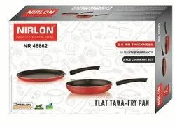Nirlon Tawa And Frying Pan Combo Aluminum Nonstick Cookware Set for Cooking