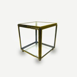 Glass GOLD Jewellery Box, for Home