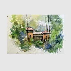 Canvas Handmade Landscape Paintings