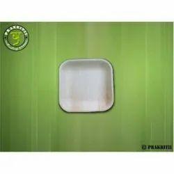8 Inch Square Shallow Areca/Plam Leaf Plates
