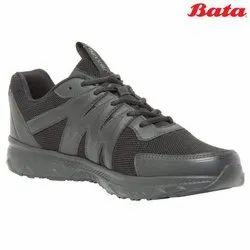 Bata Eagle Black Lace Up School Shoes, Size: 6-10 (uk)