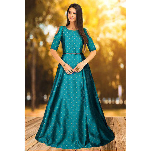 91fcb3f1da Tfunny Jquard Fabric Ladies Long Fancy Gown, Rs 749 /piece | ID ...