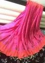 Embroidered Festive Wear Semi Tussar Saree, 6.3 M (with Blouse Piece)
