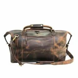 High Grade Leather Elegant Style Genuine Leather Luggage Suitcase Vintage Travel Duffle Bag For Trip