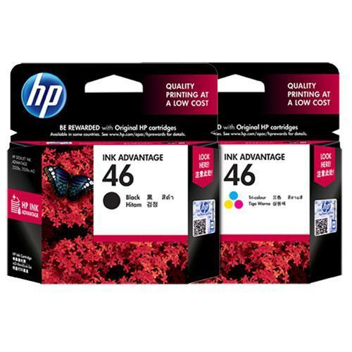 HP 46 Black & Color Ink Cartridges