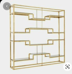 SS Golden Finish Shelves