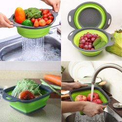 Green Collapsible Drain Basket