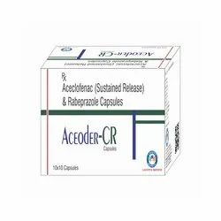 Aceclofenac Sustained Release and Rabeprazole Capsules