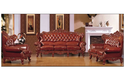 Brown Wooden Carved Sofa Set