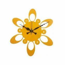 Analog Metal Designer Wall Clock, Size: 300X300