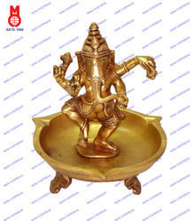 Oil Lamp Ganesh Dancing 3 Leg