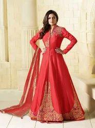 Taffeta Silk Anarkali Style Gown