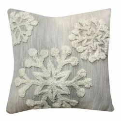 Designer Hand Tufted Cotton Cushion Covers Decorative Throw Pillow Case