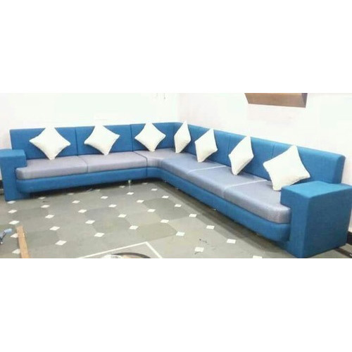 L Shape Fabric Sofa at Rs 45000 /set | Lakadganj | Nagpur | ID ...