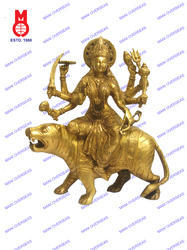 Goddess Durga On Lion Statue
