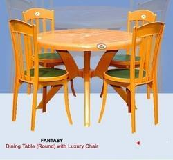 Round Dining Table With Luxury Chair