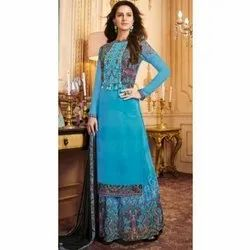 Full Sleeve Stitched Ladies Designer Festive Wear Rayon Suit, Size: S-XXL, Wash Care: Dry clean