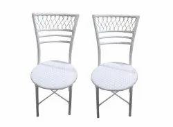 Universal Furniture White Cane Bamboo Rattan Chair Set