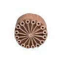 Wooden Round Henna Printing Stamp