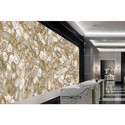 Agate Rubane White and Golden Wall Tiles