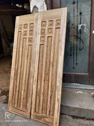 Interior Solid Wood Double Doors, Size: 42*80