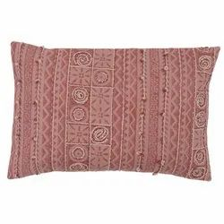 Embroidered Traditional Geometric Pattern Cotton Pillow Cover