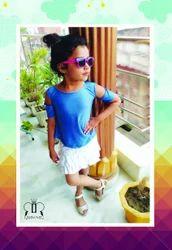 Denim Blue Kids Tops & Tees kids wear, Age: 1 Year To 12 Years
