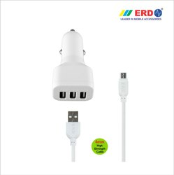 CC 33 Triple Micro USB Car Charger