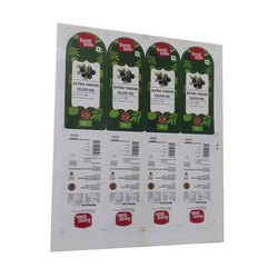 Adhesive Paper Olive Oil Sticker