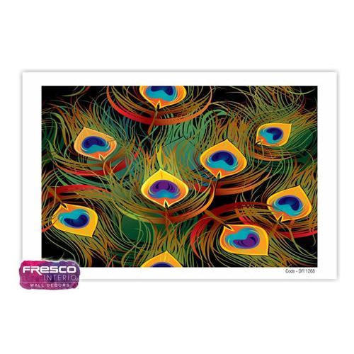 Multicolor Pvc Peacock Feather Design 3d Wallpaper Rs 65 Square