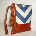 Antique Designer Leather Clutch