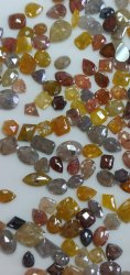 Natural Loose Rose Cut Mix Shape Mix Color Diamond