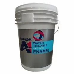 High Gloss Water Based Paint A1 White Exterior Enamel Paint, Packaging Size: 20l, Packaging Type: Bucket