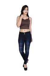 Ladies Stretchable Jeans, Size: 28 and 30