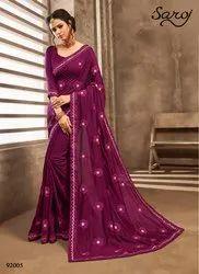 Fancy Silk Saree with Butta