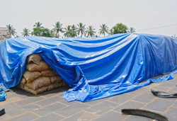 Blue HDPE Agriculture Tarpaulin, Packaging Type: Roll