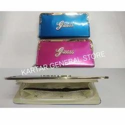 Female Polyester Pink and Blue Ladies Purse, For Gift, Packaging Type: Box