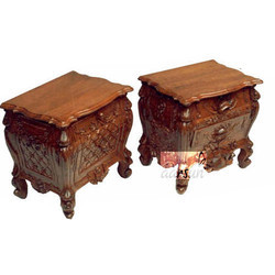 Wooden Antique Bed Side Table in Indian Rosewood, For Home