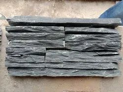 Black Stone Water Fall Broad Strips Panel