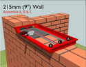 Bricky Adjustable Wall Building Tool-3 Std Wall - 4