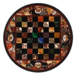 Pietra Dura White Coffee Marble Table Top