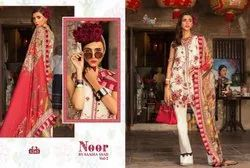 Noor By Saadia Asad Vol 2 Of Shree Fabs Cotton Print With Embroidery Pakistani Suits