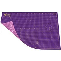 A1 Double Sided Cutting Mat Imperial/Metric 36 Inch x 24 Inch / 90cm x 60cm - Super Pink / Royal Pur