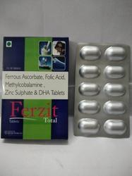 Ferrous Ascorbate Folic Acid Zinc DHA Tablets, Packaging Type: Alu-Alu