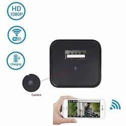 Black Wifi Spy HD Adopter Camera, For Office
