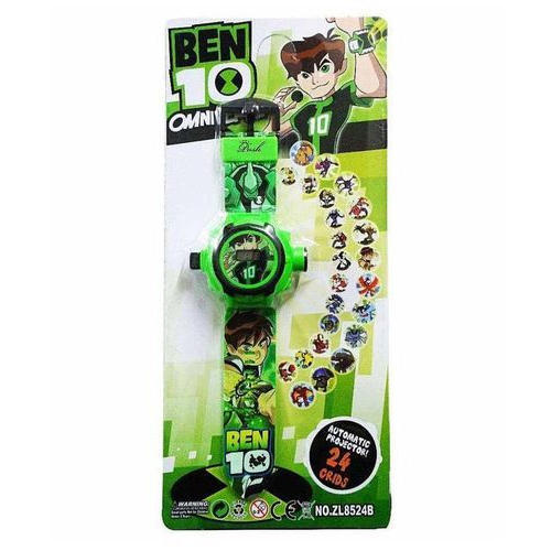 Green Plastic Ben 10 Projection 24 Character Watch Rs 65 Piece Id 18945143391