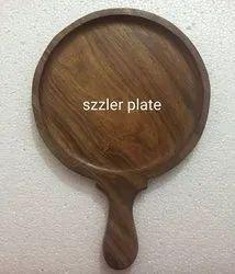 Rectangular Plain Wooden Sizzler Plate, Size: 12