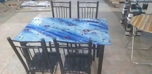 "Wrought Iron Dining Set, Seating Capacity: 4-6, Size: 48""x30"""